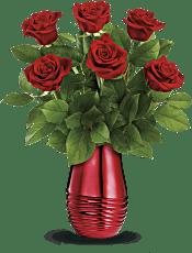 Teleflora's Rouge Romance Bouquet Flowers
