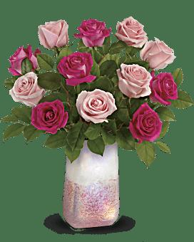 Teleflora's Rose Quartz Kisses Bouquet Bouquet