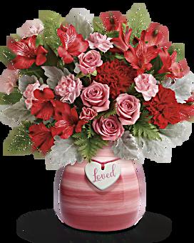 de Teleflora par espièglerie rose bouquet