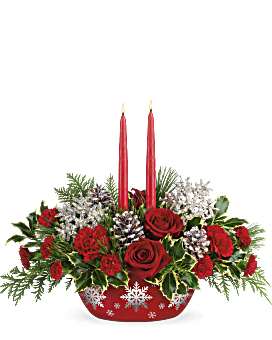 Teleflora's Winter's Eve Centerpiece Bouquet