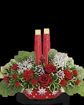 La veille centre de table bouquet de l'hiver de de Teleflora