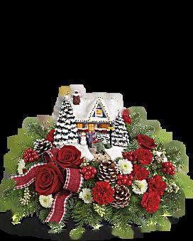 La bienvenue bouquet fleur arrangement floral du héros de Thomas Kinkade