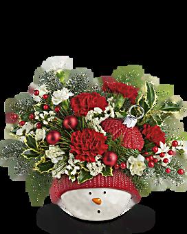 Snowman ornement bouquet de de Teleflora