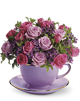 Teacup of Roses Sympathy Bouquet