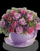 Teacup of Roses Sympathy Bouquet