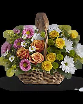 Arrangement floral Panier douce tranquillité