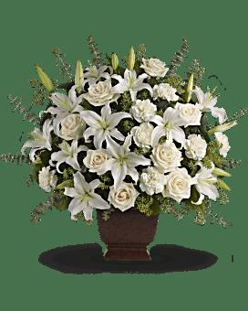 Arrangement floral Bouquet de fleurs Amour de lys et de roses de Teleflora