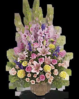Arrangement floral bouquet Harmonisation verticale de Teleflora