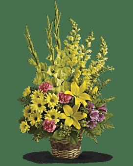 Arrangement floral Panier de souvenir intense