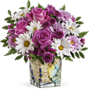 Teleflora's Vintage Butterfly Bouquet Flowers