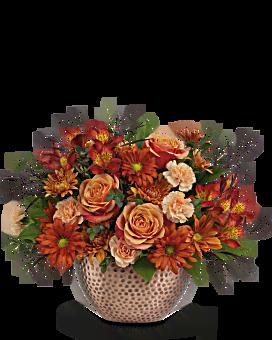 Teleflora's Copper Beauty Centerpiece Bouquet