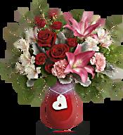 Teleflora's Charmed in Love Bouquet Flowers