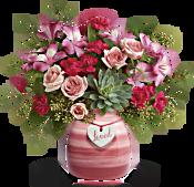 Teleflora's Cross My Heart Bouquet Flowers