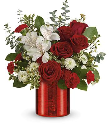 Teleflora's Crimson Crush Bouquet Flowers