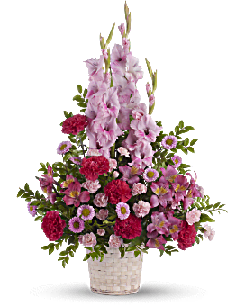 Heavenly Heights Bouquet Basket Arrangement