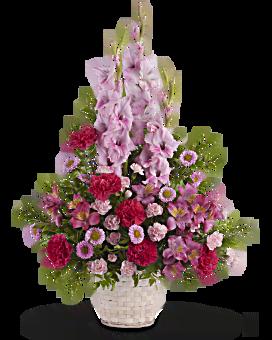 Heavenly Heights Bouquet Basket Arrangement
