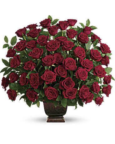 Teleflora S Rose Tribute Flower Arrangement Teleflora