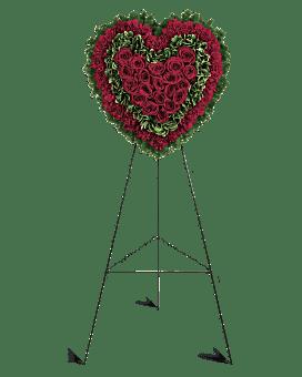 Majestic Heart Sympathy Arrangement