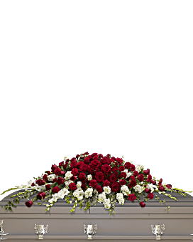 Garden of Grandeur Casket Spray Sympathy Arrangement