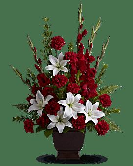 Teleflora's Tender Tribute Flower Arrangement