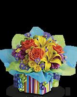 Teleflora's Rainbow Present Bouquet