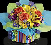 Teleflora's Rainbow Present Flowers