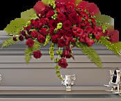 Red Rose Sanctuary Casket Spray Flowers