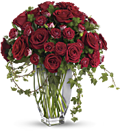 Teleflora's Rose Romanesque Bouquet - Red Roses Flowers
