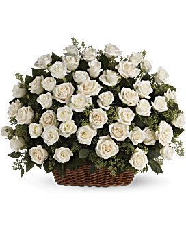 Bountiful Rose Basket Basket Arrangement