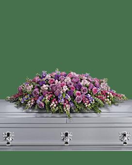 Lavender Tribute Casket Spray Sympathy Arrangement