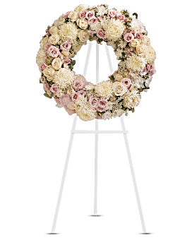 Peace Eternal Wreath Sympathy Arrangement