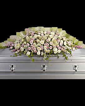 Casket flowers sprays for funerals teleflora quick view always adored casket spray sympathy arrangement mightylinksfo
