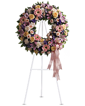 Graceful Wreath Sympathy Arrangement