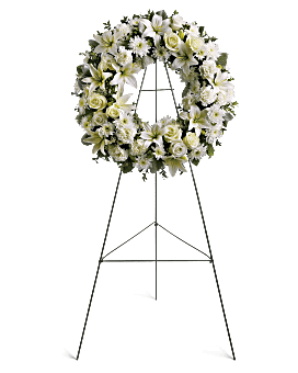 Serenity Wreath Sympathy Arrangement