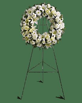 Serenity Wreath Sympathy Arrangement