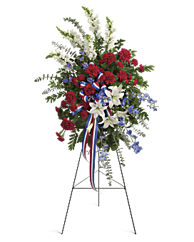 Sacred Duty Spray Sympathy Arrangement