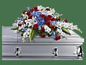 Distinguished Service Casket Spray Flowers