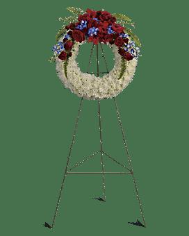 Reflections of Glory Wreath Sympathy Arrangement