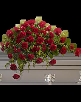 Adoration casket spray sympathy arrangement teleflora 36 w mightylinksfo