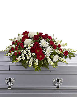 Strength and Wisdom Casket Spray Sympathy Arrangement