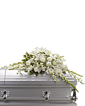Bountiful Memories Casket Spray Sympathy Arrangement