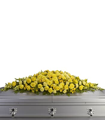 Golden Garden Casket Spray Flowers