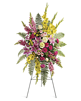 Rays of Light Spray Sympathy Arrangement