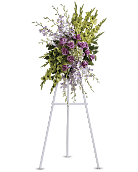 Heavenly Sentiments Spray Sympathy Arrangement