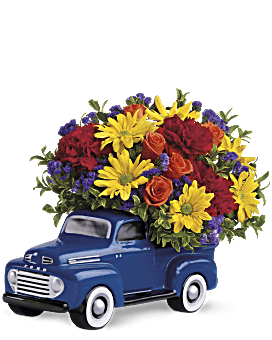 23a2763a53f51 Quick view Teleflora s  48 Ford Pickup Bouquet Flower Arrangement