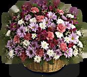 Rainbow Reflections Basket Flowers