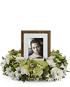 Garden Wreath Sympathy Arrangement