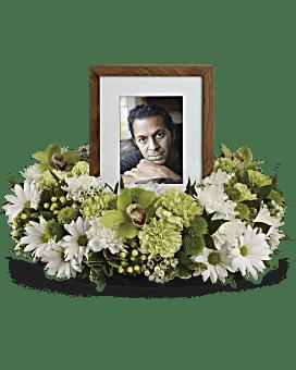 Garden Wreath Sympathy Arrangement