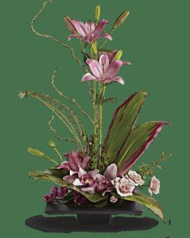 Arrangement floral Éclat d'imagination avec des orchidées cymbidium
