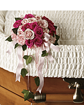 Rose Reflection Casket Insert Specialty Arrangement